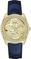 GUESS GUESS? Women's U0627L10 Leather Japanese Quartz Fashion Watch