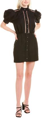 C/Meo Worthy Linen-Blend Mini Dress