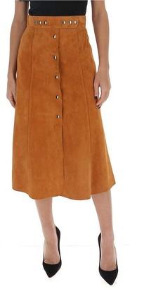 Prada Button-Up A-Line Skirt
