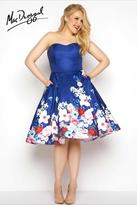 Mac Duggal Fabulouss - 65969 Bustier Gown In Floral Multicolor