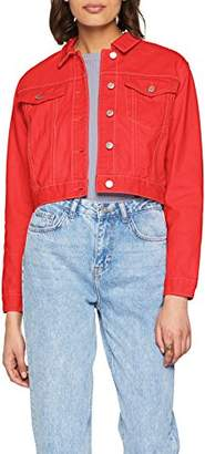 New Look Women's 5639881 Jacket, (Bright Red 60), (Size:)