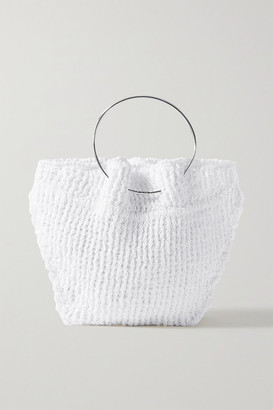 The Row Flat Circle Crocheted Cotton Tote - White