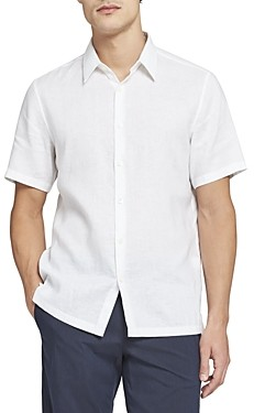 Theory Irving Short-Sleeve Linen Shirt