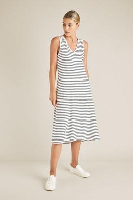 Seed Heritage Stripe Sleeveless Jersey Dress