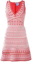 Herve Leger embroidered dress - women - Rayon/Nylon/Spandex/Elastane - XS