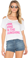 Chaser Pink Wine Cold Shoulder Tee