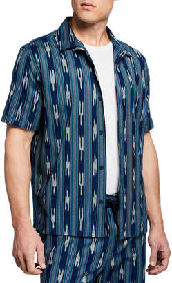 Vince Men's Ikat-Pattern Cabana Shirt
