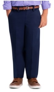 Haggar Little Boys Premium No Iron Khaki, Reg Fit, Flat Front Pant