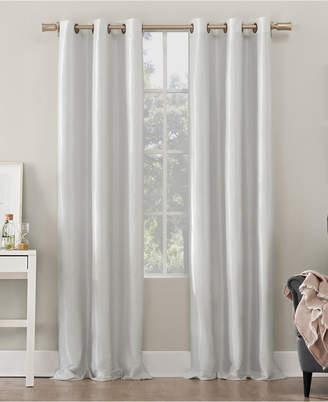 "Sun Zero Bardot Dupioni Faux Silk 100% Blackout Grommet Curtain Panel, 40"" W x 84"" L"