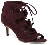 Delman Tryst Suede Lace-Up Sandals