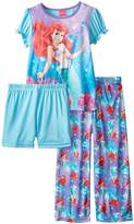 Disney Big Girls' Under The Sea 3-Piece Pajama Set, Multi
