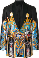 Versace statue print blazer