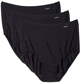 Jockey No Panty Line Promise(r) Tactel(r) 3-Pack Full Rise Brief (Black 3-Pack) Women's Underwear