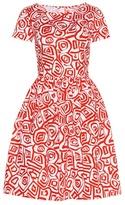 Oscar de la Renta Printed Cotton Dress