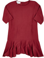 Little Remix RUFFLED-HEM PLAIN-WEAVE DRESS