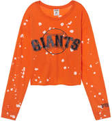 PINK San Francisco Giants Campus Long Sleeve Shrunken Tee