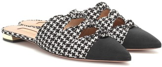 Aquazzura Mondaine houndstooth slippers