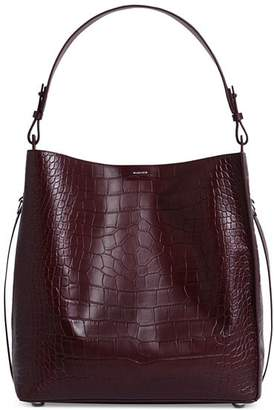 AllSaints Polly Croc-Embossed Large Leather Tote