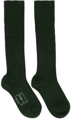 Plan C Green Long Socks