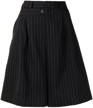 Delada Double-Waistband Wool Shorts