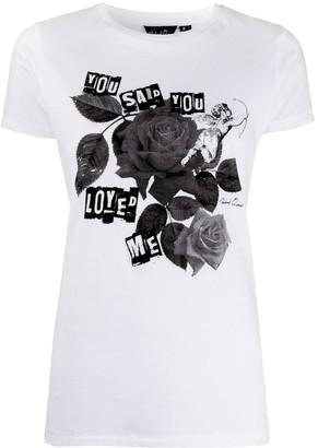 Richard Quinn short sleeve rose print T-shirt