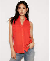 Express slim fit sleeveless portofino shirt