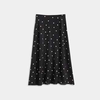 Theory Square Silk Volume Skirt