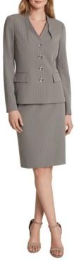 Tahari ASL Four-Button Jacket Skirt Suit