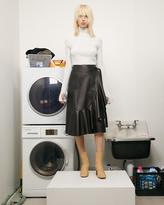 Helmut Lang Leather Drape Skirt