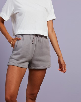 Cools Club - Women's Grey Shorts - Badge Fleece Shorts - Size 6 at The Iconic