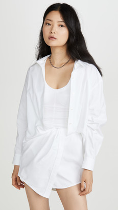 Alexander Wang Falling Twist Shirt Dress