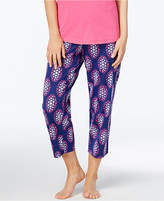 Charter Club Printed Cotton Knit Cropped Pajama Pants, Created for Macy's