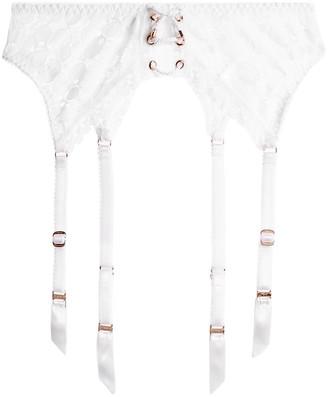 Agent Provocateur Daizy Floral-lace Suspender Belt