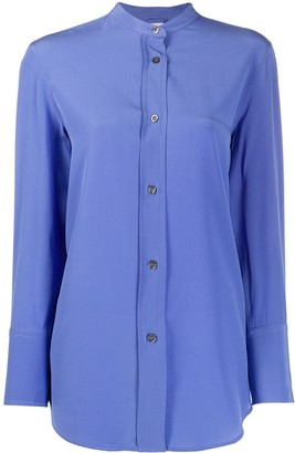 Aspesi Collarless Silk Shirt