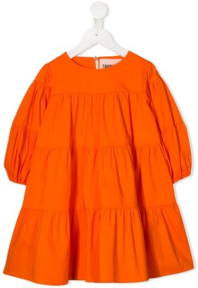 Touriste Tiered Pleated Dress
