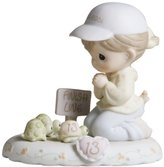 "Precious Moments Precious Moments, Birthday Gifts, ""Growing In Grace, Age 13"", Bisque Porcelain Figurine, Brunette Girl, #272647B"