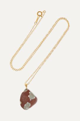 Cvc Stones 18-karat Gold, Stone And Diamond Necklace - one size