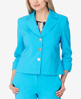 Tahari ASL Cuffed Three-Button Blazer
