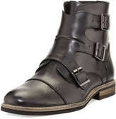 English Laundry Milo Leather Buckle Bootie, Black
