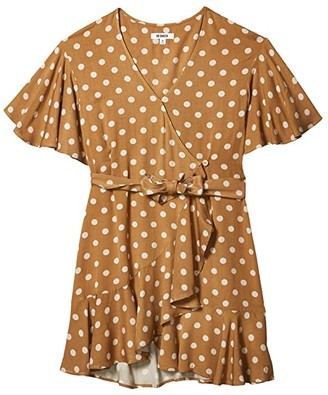 BB Dakota Bae Spotted Dot Printed Rayon Dress (Butterscotch) Women's Clothing