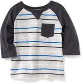 Old Navy Raglan-Sleeve Pocket Tee for Toddler