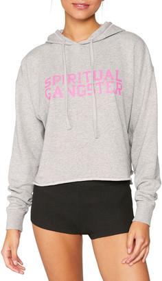 Spiritual Gangster Serena Heathered Logo Pullover Hoodie