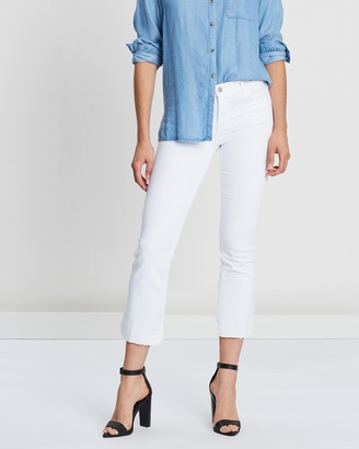 J Brand Selena Mid-Rise Crop Boot Cut Jeans