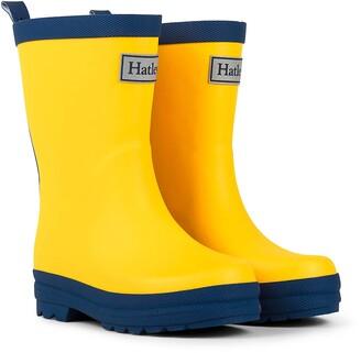 Hatley Classic Wellington Rain Boots Yellow (Yellow & Navy) 9 UK