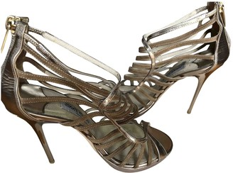 Jimmy Choo Gold Patent leather Sandals