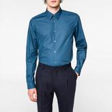 Paul Smith Men's Tailored-Fit Petrol Blue Cotton Shirt
