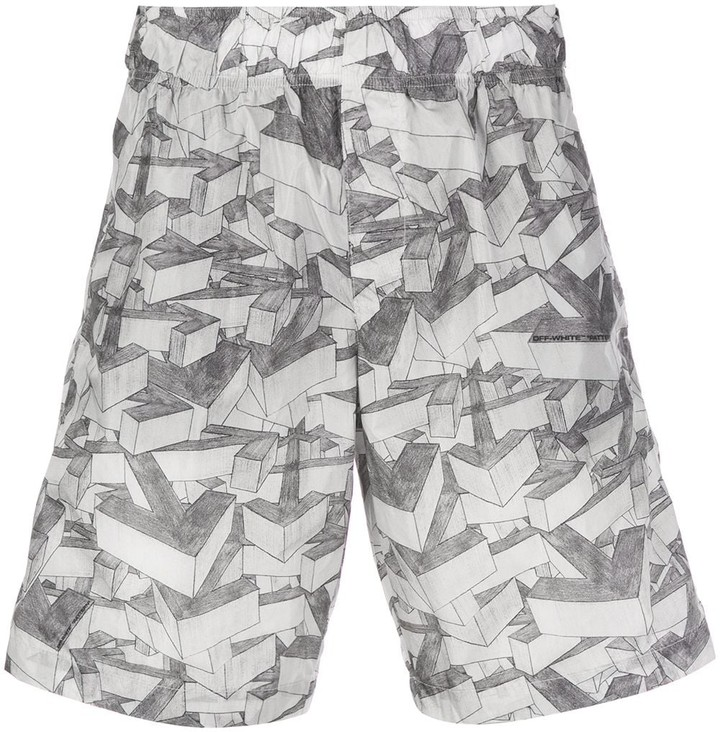 Off-White Off White arrow print swim shorts