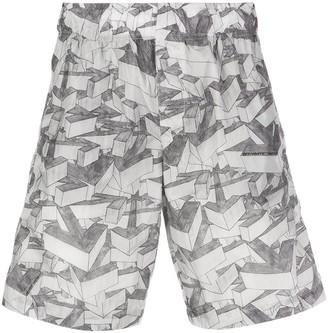 Off-White Arrow Print Swim Shorts