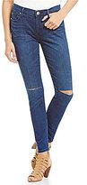 True Religion Halle Ankle Knee-Slit Super Skinny Jeans