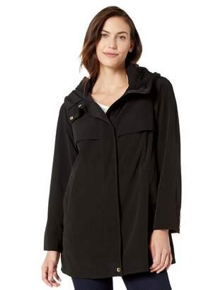 Gallery Women's Micro Pleated Rain Coat